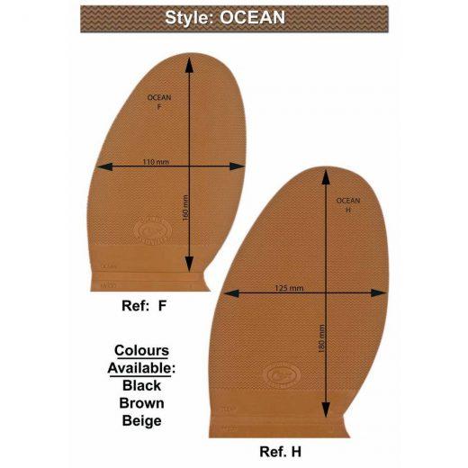 F210000 Ocean rubber half soles - GH
